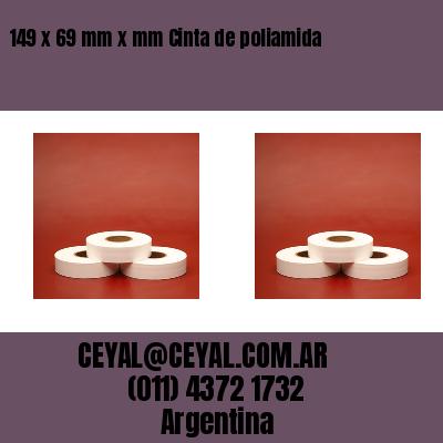 149 x 69 mm x mm Cinta de poliamida