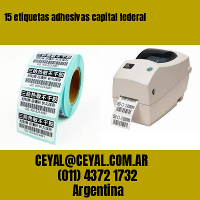 15 etiquetas adhesivas capital federal