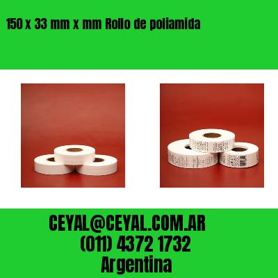 150 x 33 mm x mm Rollo de poliamida