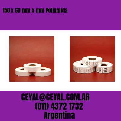 150 x 69 mm x mm Poliamida