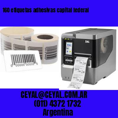 160 etiquetas adhesivas capital federal