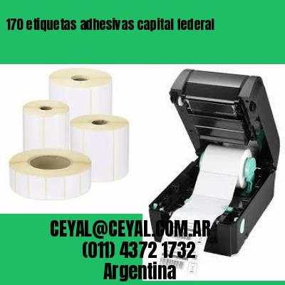 170 etiquetas adhesivas capital federal