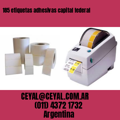 185 etiquetas adhesivas capital federal