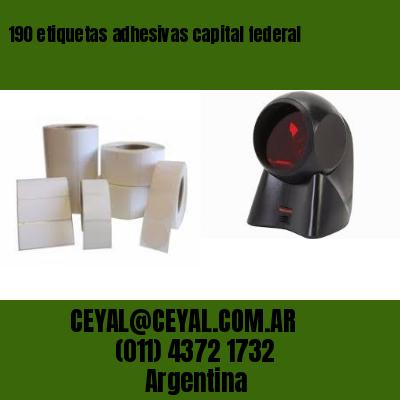 190 etiquetas adhesivas capital federal