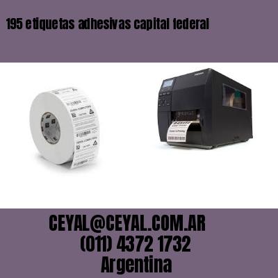 195 etiquetas adhesivas capital federal