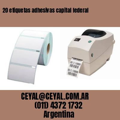 20 etiquetas adhesivas capital federal