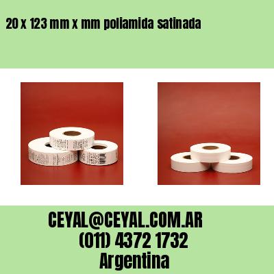 20 x 123 mm x mm poliamida satinada
