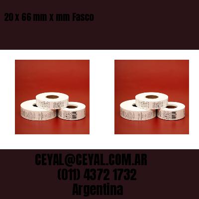 20 x 66 mm x mm Fasco