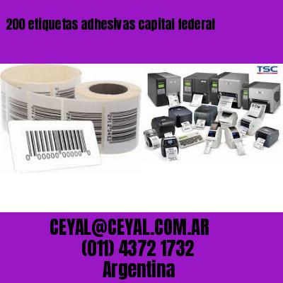 200 etiquetas adhesivas capital federal