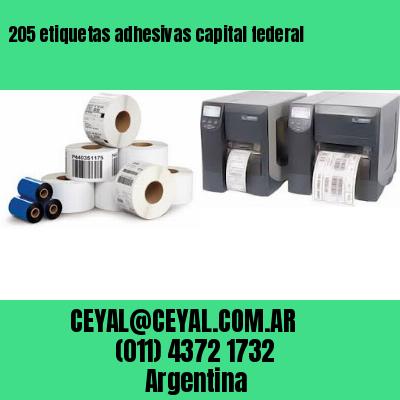 205 etiquetas adhesivas capital federal