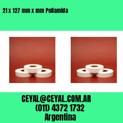 21 x 127 mm x mm Poliamida