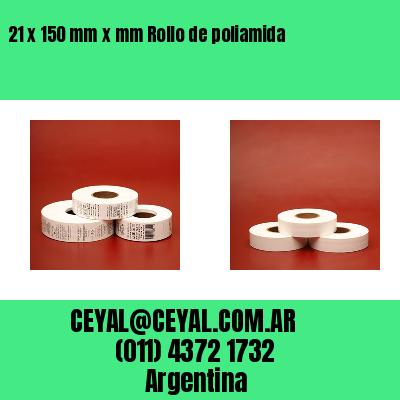 21 x 150 mm x mm Rollo de poliamida