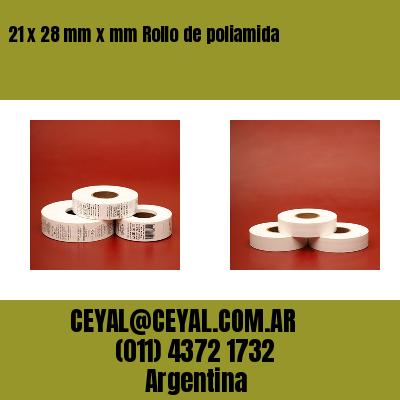 21 x 28 mm x mm Rollo de poliamida