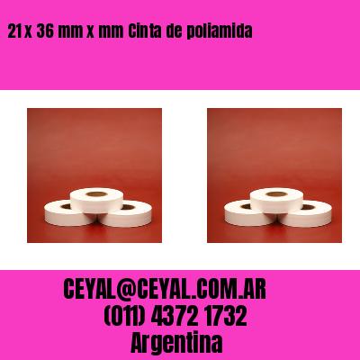21 x 36 mm x mm Cinta de poliamida