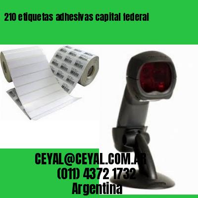210 etiquetas adhesivas capital federal