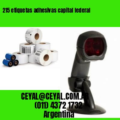 215 etiquetas adhesivas capital federal