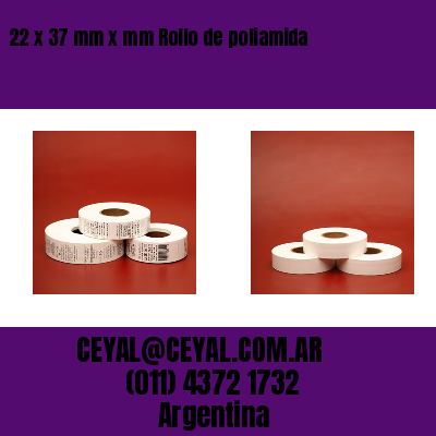22 x 37 mm x mm Rollo de poliamida