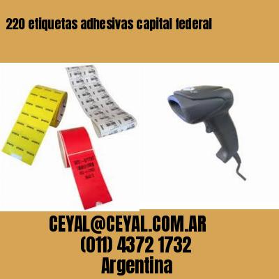 220 etiquetas adhesivas capital federal