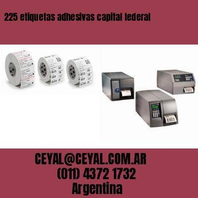 225 etiquetas adhesivas capital federal