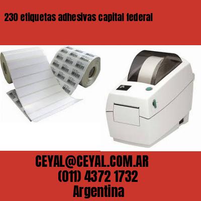 230 etiquetas adhesivas capital federal