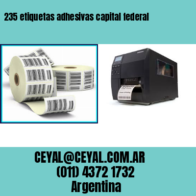 235 etiquetas adhesivas capital federal