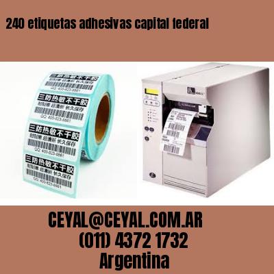 240 etiquetas adhesivas capital federal
