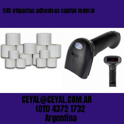 245 etiquetas adhesivas capital federal
