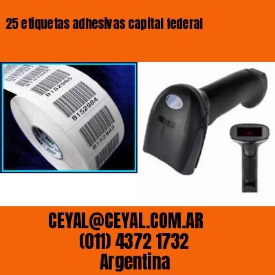 25 etiquetas adhesivas capital federal