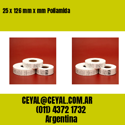 25 x 126 mm x mm Poliamida
