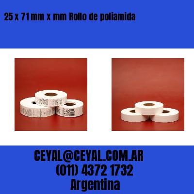 25 x 71 mm x mm Rollo de poliamida