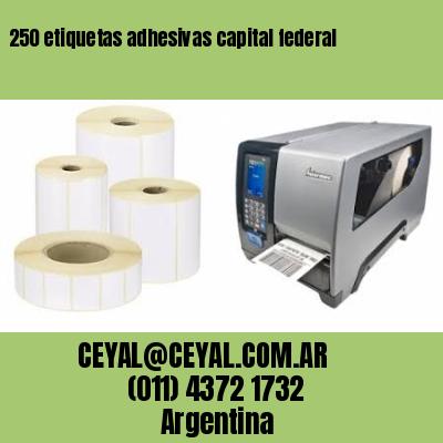 250 etiquetas adhesivas capital federal