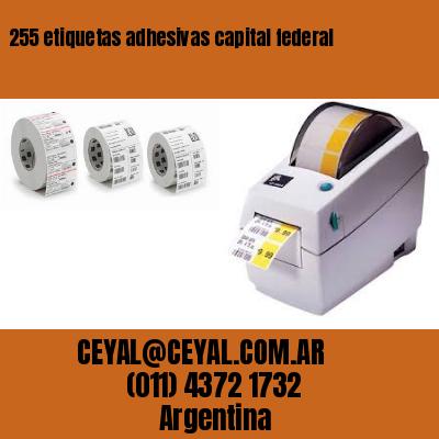 255 etiquetas adhesivas capital federal