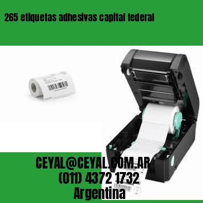 265 etiquetas adhesivas capital federal