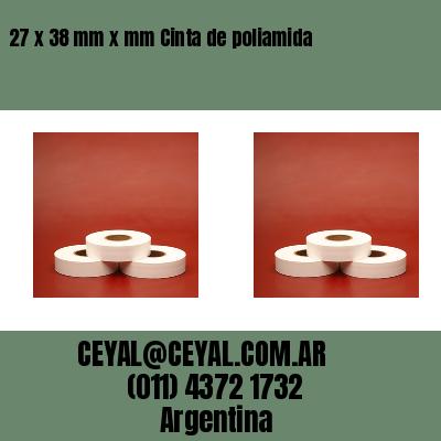 27 x 38 mm x mm Cinta de poliamida
