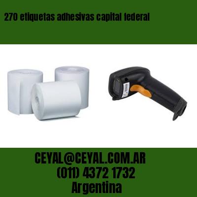 270 etiquetas adhesivas capital federal