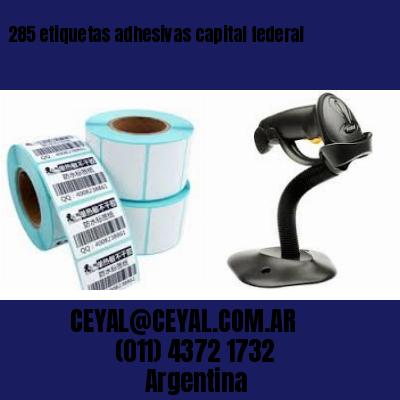 285 etiquetas adhesivas capital federal