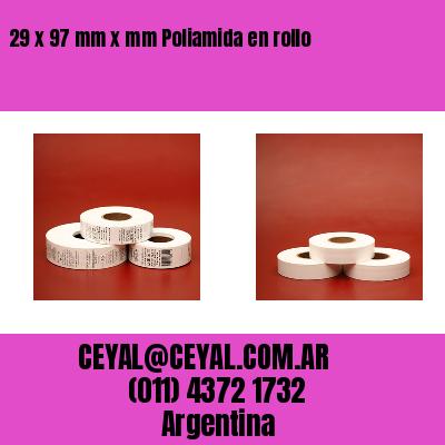 29 x 97 mm x mm Poliamida en rollo