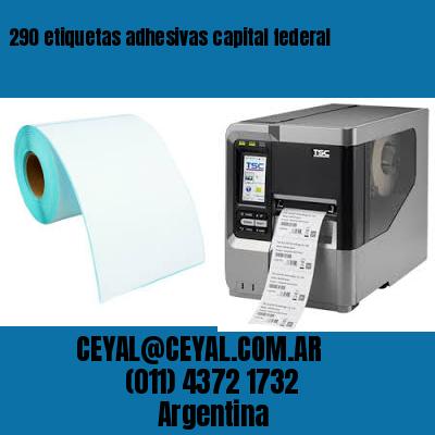 290 etiquetas adhesivas capital federal