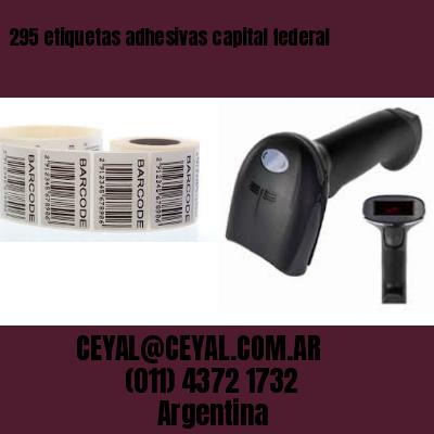 295 etiquetas adhesivas capital federal
