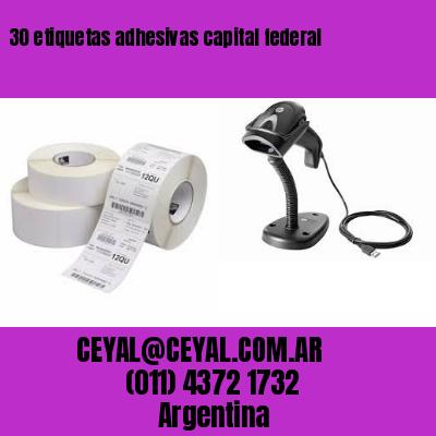30 etiquetas adhesivas capital federal