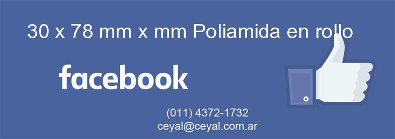 30 x 78 mm x mm Poliamida en rollo