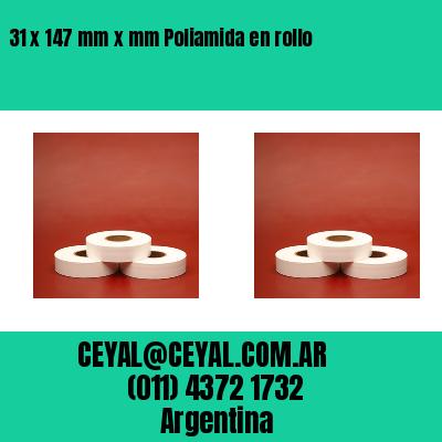 31 x 147 mm x mm Poliamida en rollo