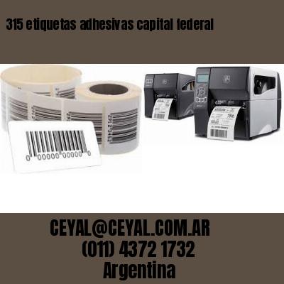 315 etiquetas adhesivas capital federal