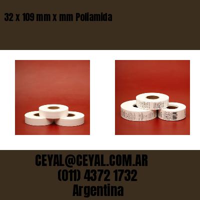 32 x 109 mm x mm Poliamida