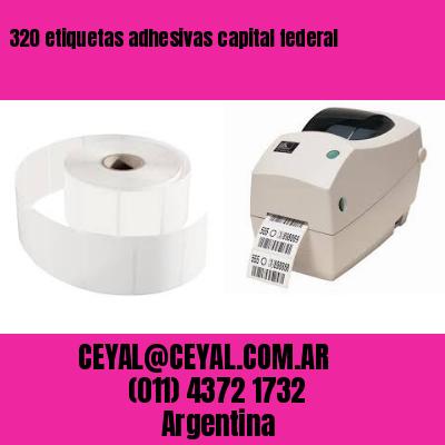 320 etiquetas adhesivas capital federal