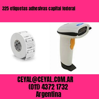 325 etiquetas adhesivas capital federal