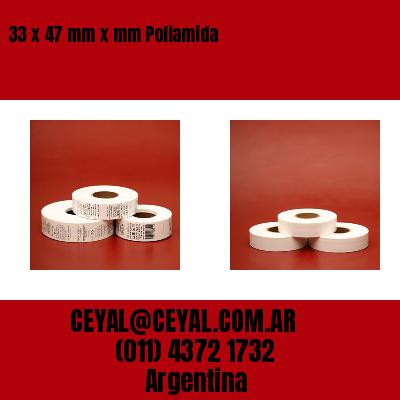 33 x 47 mm x mm Poliamida