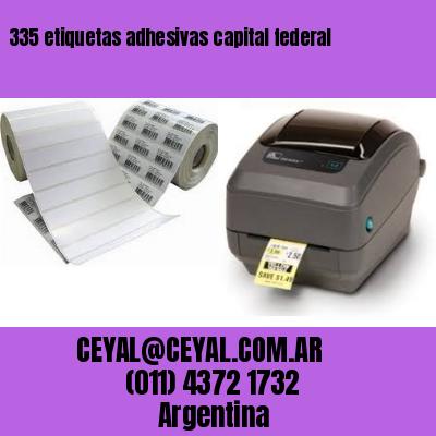 335 etiquetas adhesivas capital federal