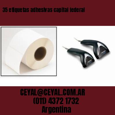 35 etiquetas adhesivas capital federal