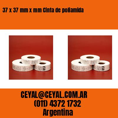 37 x 37 mm x mm Cinta de poliamida